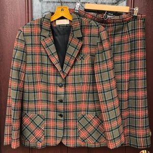 Vintage Wool Suit Jacket Pendleton Skirt Small